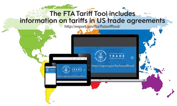 The FTA Tariff Tool includes information on tariffs in US trade agreements